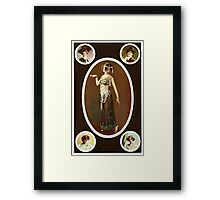 Victorian ladies vintage  Framed Print