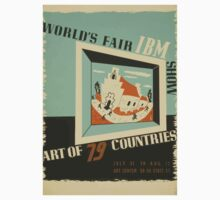 WPA United States Government Work Project Administration Poster 0742 World's Fair IBM Show Kids Tee