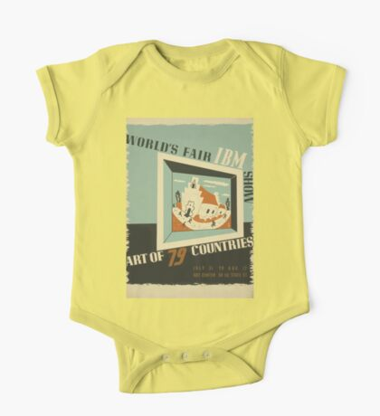 WPA United States Government Work Project Administration Poster 0742 World's Fair IBM Show One Piece - Short Sleeve
