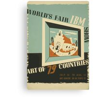 WPA United States Government Work Project Administration Poster 0742 World's Fair IBM Show Canvas Print