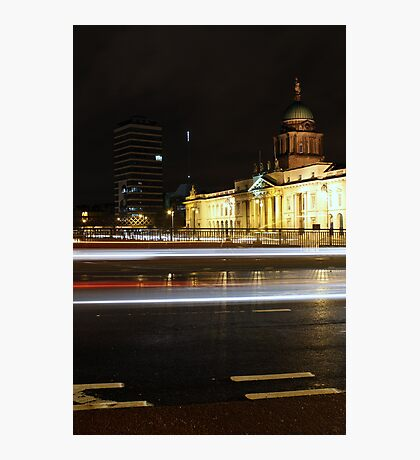 Customs House light trails Photographic Print