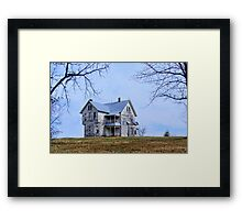 The Old House on  the Hill Framed Print