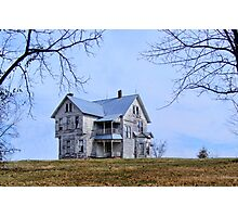 The Old House on  the Hill Photographic Print