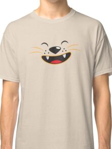 Cute kitty cat face smiling Classic T-Shirt