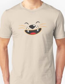 Cute kitty cat face smiling T-Shirt
