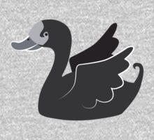 Cute Black swan  Kids Clothes