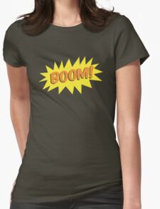 BOOM! with flash  Womens Fitted T-Shirt