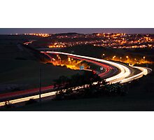 A27 at Hangleton at night Photographic Print