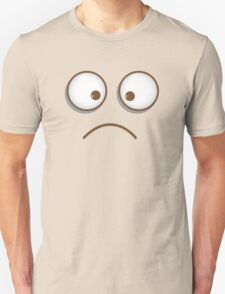 Crazee face funny crossed eyes smiley T-Shirt