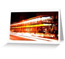 Night Bus Greeting Card