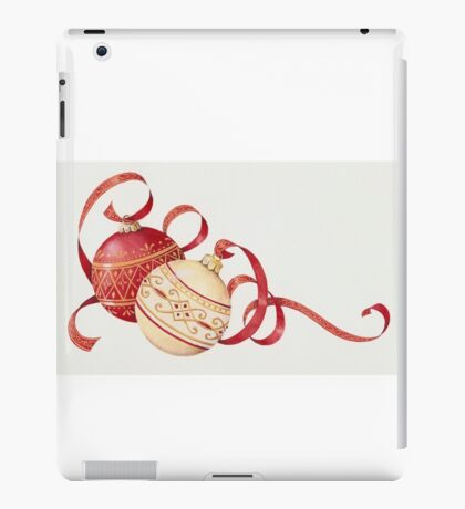 Ornaments and ribbons iPad Case/Skin