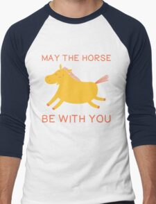 May The Horse Be With You - Cute Horse Lover T Shirt Men's Baseball ¾ T-Shirt