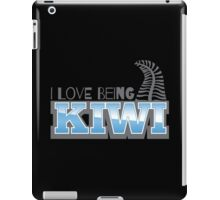 I LOVE BEING KIWI with silver fern iPad Case/Skin