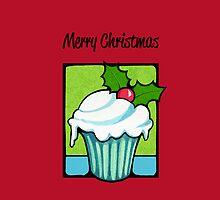Christmas Holly Cupcake red by Mariana Musa