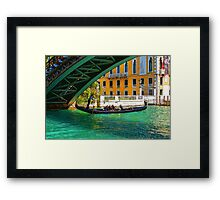 Impressions of Venice - Ponte dell Accademia Turquoise  Framed Print