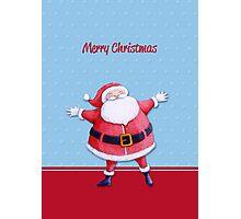Santa Claus blue Photographic Print