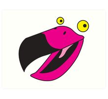 Beaker pink bird  Art Print