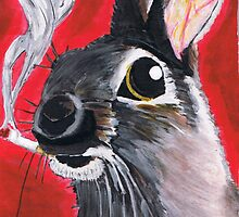 The Smoking Bunny by Troy V