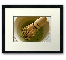 Whisked Green Tea Framed Print