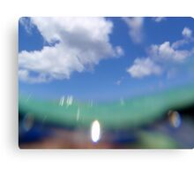 Fish eye view of the clouds... Canvas Print