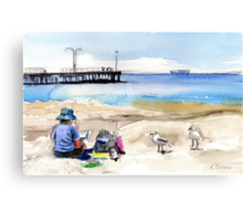 Artist's View, Altona Canvas Print