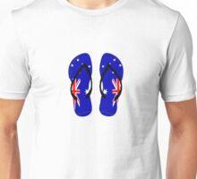 Australian Flag Thongs T-Shirt Unisex T-Shirt