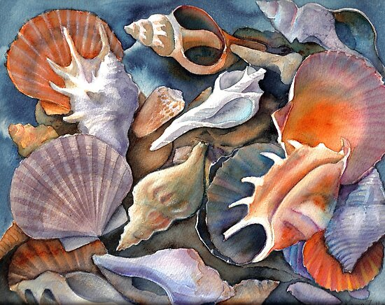 Box of Shells II by Karin Zeller