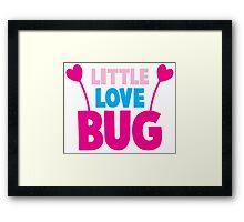 Little love bug with cute little antennae matching big love bug Framed Print