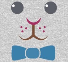 Bunny rabbit face with bow tie One Piece - Long Sleeve