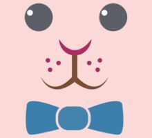 Bunny rabbit face with bow tie Kids Tee