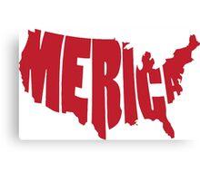 'Merica Design (America) Canvas Print