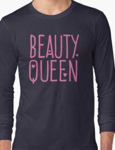 Beauty Queen with cute little hearts Long Sleeve T-Shirt