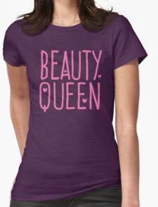 Beauty Queen with cute little hearts Womens Fitted T-Shirt