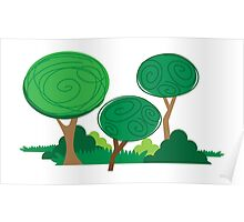 All curly trees Poster