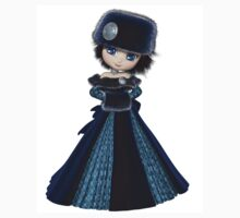 Toon Winter Princess in Blue Kids Clothes