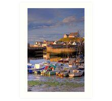 Harbour Light, Findochty Art Print