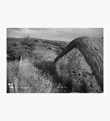 Old Thatch and Summer Grasslands - Killbegs, County Donegal. Photographic Print