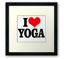 i heart yoga Framed Print