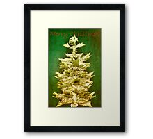 Big tree in a small world (Christmas card) Framed Print
