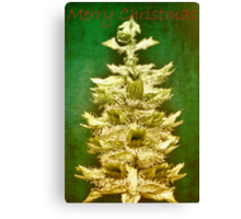 Big tree in a small world (Christmas card) Canvas Print