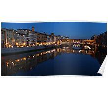 Arno River, Florence  Poster