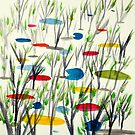 Reeds on Pond by George Hunter