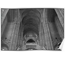 LIVERPOOL CATHEDRAL B/W Poster