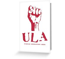 ULA RED  Greeting Card