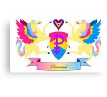 Pansexual Crest Canvas Print