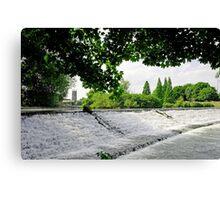 River Derwent Weir, Derby Canvas Print