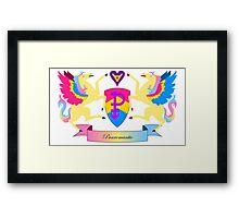 Panromantic Crest Framed Print