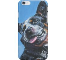 Australian Cattle Dog Fine Art Painting iPhone Case/Skin