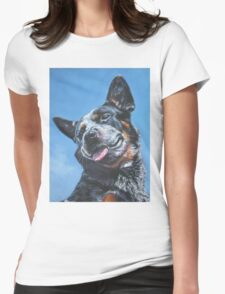 Australian Cattle Dog Fine Art Painting Womens Fitted T-Shirt