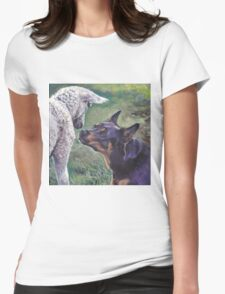 Australian Kelpie Fine Art Painting Womens Fitted T-Shirt